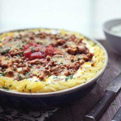 Cheesy Chili Spaghetti Squash Casserole | Julieschreiber | Copy Me ...