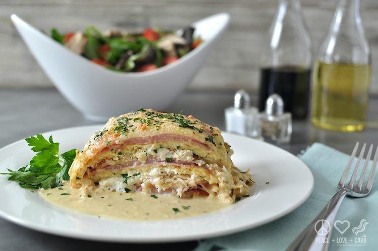 Chicken Cordon Bleu Lasagna W Low Carb Noodle Recipe Bev Copy Me That