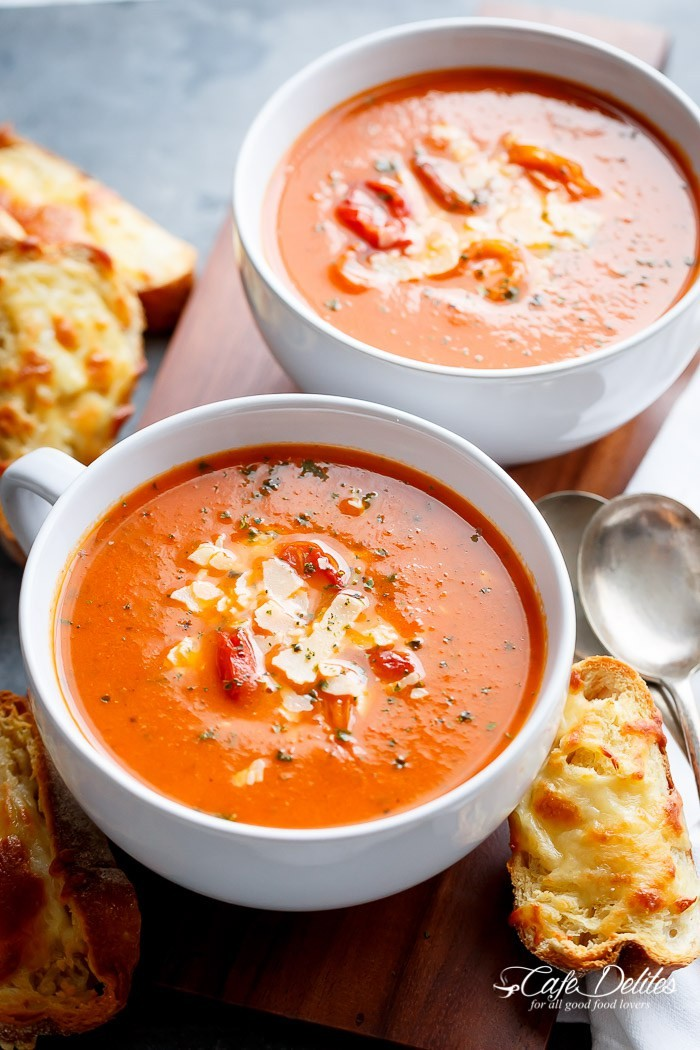 Creamy Roasted Tomato Basil Soup | Msbahr | Copy Me That