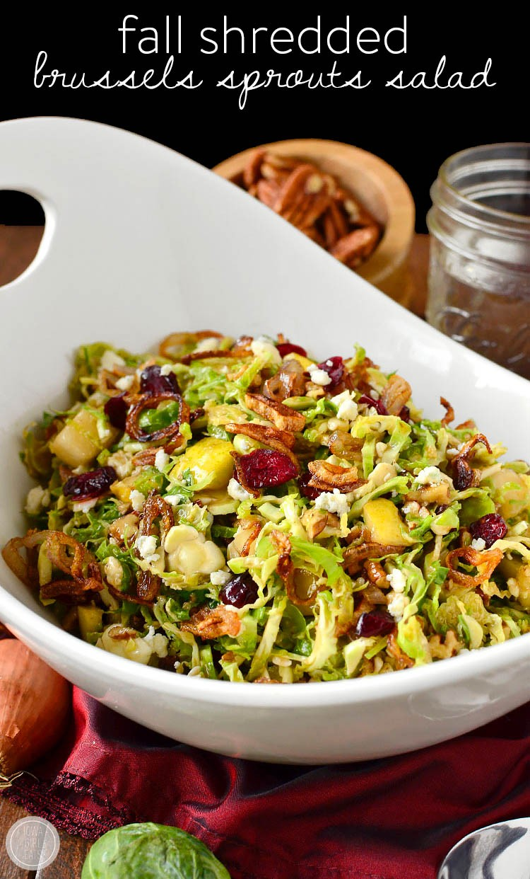 Fall Shredded Brussels Sprouts Salad | Partyof7 | Copy Me That