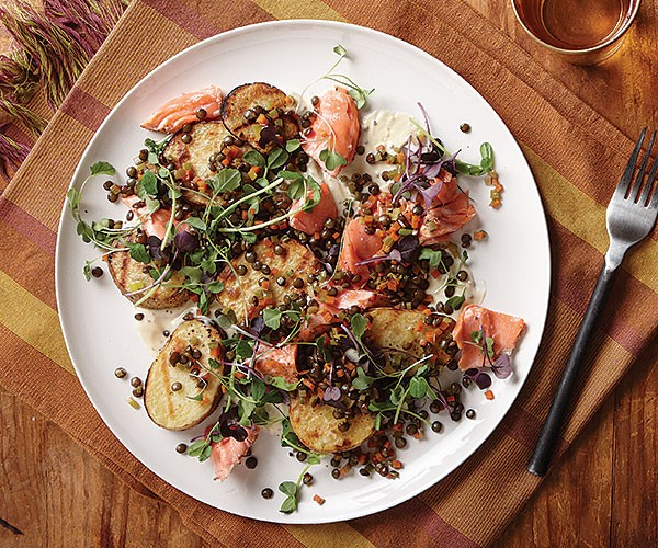 Grilled Potato, Salmon, and Lentil Salad with Mustard ...