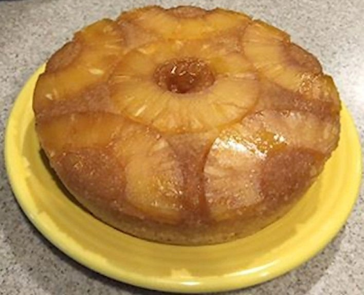 Pineapple Upside Down Cake With Yellow Cake Mix
