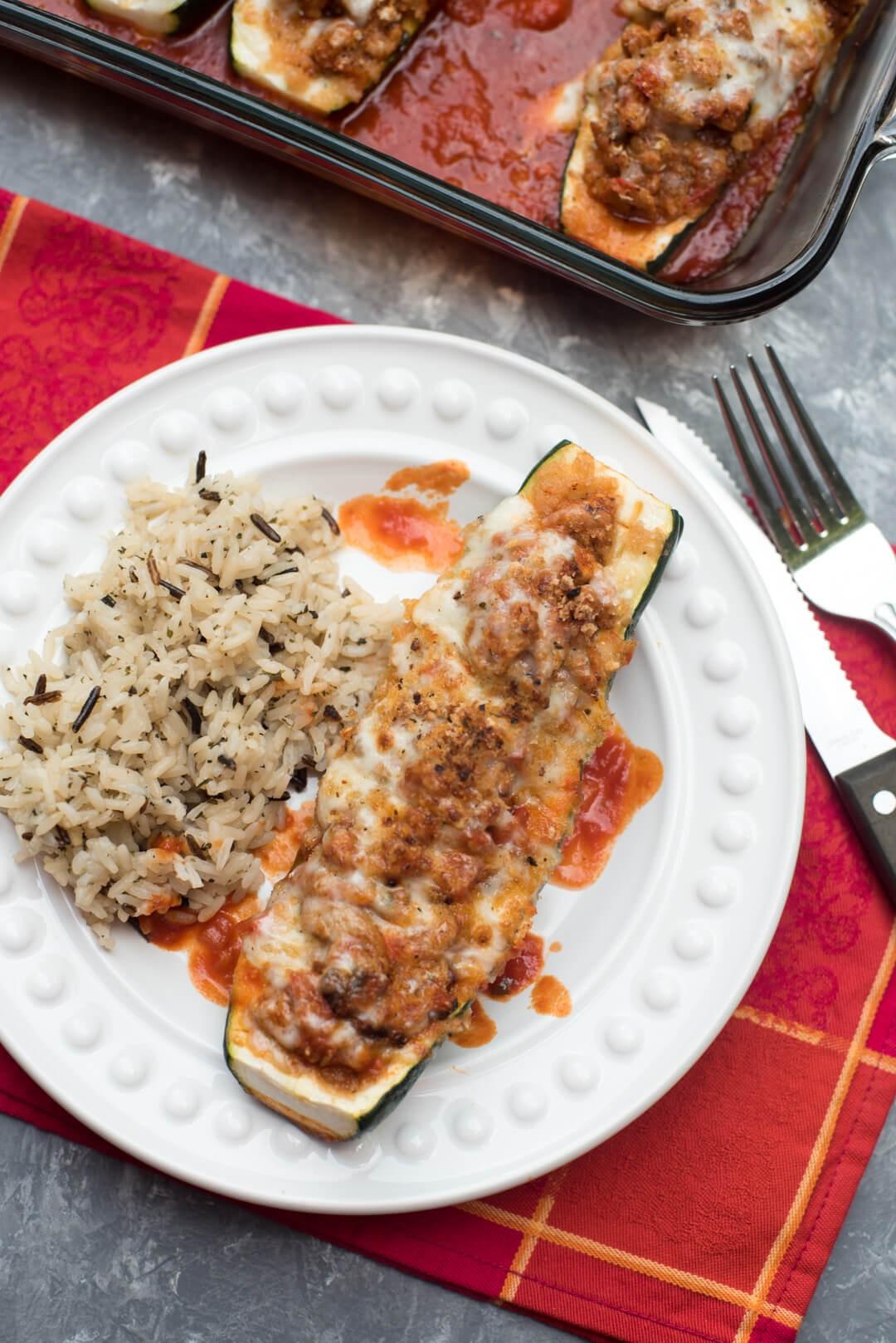 Italian Stuffed Zucchini Boats | Rochelle Largent | Copy Me That