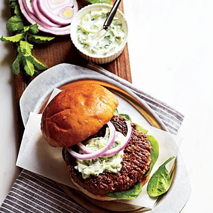 Lamb Burgers with Cilantro Raita | Arduanne | Copy Me That