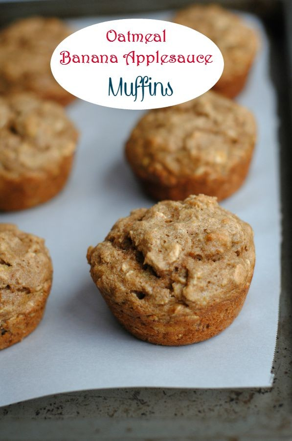 Oatmeal Banana Applesauce Muffins | Aadams109 | Copy Me That