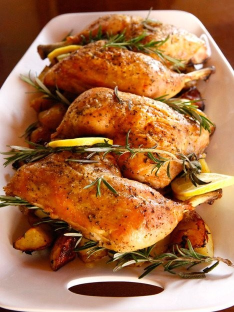 Instant Pot Chicken Leg Quarters With Lemon And Rosemary