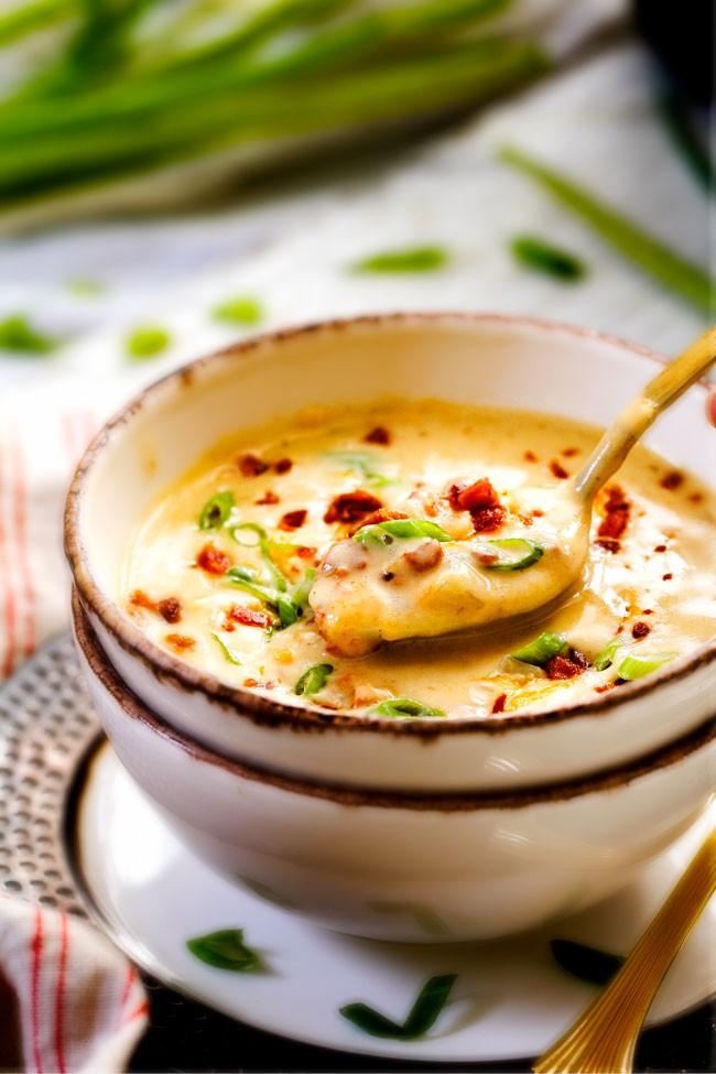 Skinny, Rich and Creamy, Slow Cooker Potato Soup | fioco | Copy Me ...