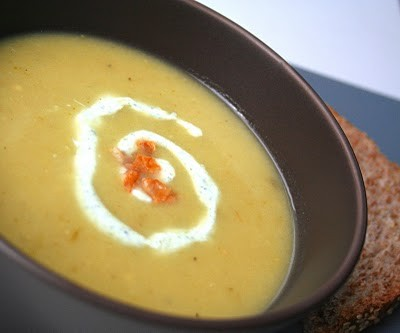 Spicy Green Tomato Soup with Crispy Pancetta   BChaney   Copy Me That