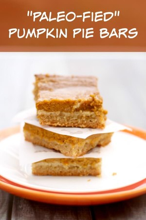 "Paleo-Fied"" Pumpkin Pie Bars   Shari   Copy Me That"