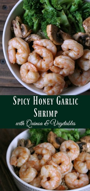 Spicy Honey Garlic Shrimp with Quinoa and Vegetables | RF | Copy Me ...